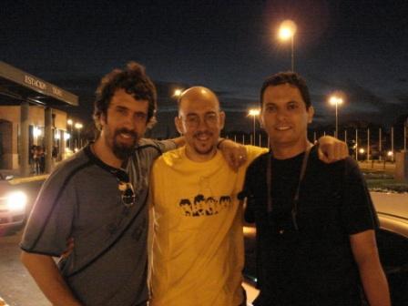 Con Adrián yAriel Herrera, de Blues Motel (Tigre, Argentina, 12 de diciembre de 2008)