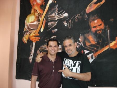 """Con Miguel """"Botafogo"""" Vilanova (Buenos Aires, 10 de diciembre de 2008)"""