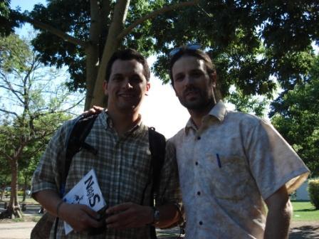 Con Gabriel Grätzer (Buenos Aires, Argentina, 6 de diciembre de 2008)