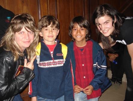 Maya Miller, Tomás, Juan Alejandro y Becky Black (Bogotá, 9 de noviembre de 2008)